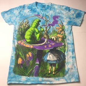 Alice In Wonderland Tie Dye T-Shirt Liquid Blue M